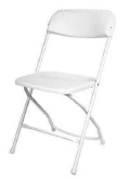 Rental store for CHAIR, WHITE in New Jersey / Philadelphia PA