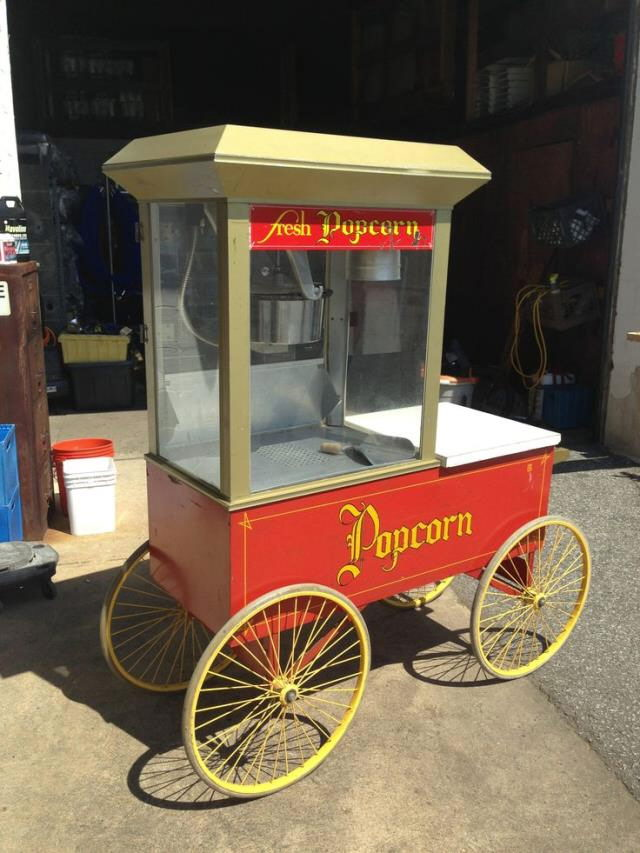 Where to rent POPCORN CART 12 OZ.  4 WHEEL in Atlantic City, Philadelphia, South Plainfield, Edison NJ, Woodbridge NJ, Sicklerville NJ