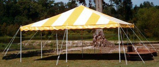 15 Foot X15 Foot Yellow White Diy Tent Rentals New Jersey
