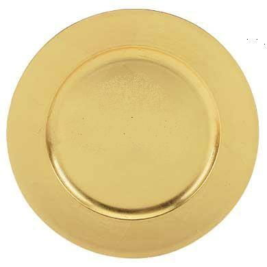 Charger Plate Gold Plastic 13 Inch Rentals New Jersey