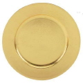 Rental store for CHARGER PLATE, GOLD PLASTIC 13 in New Jersey / Philadelphia PA