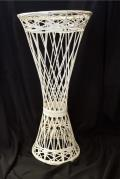 Rental store for COLUMN, FLOWER  WHITE WICKER in New Jersey / Philadelphia PA