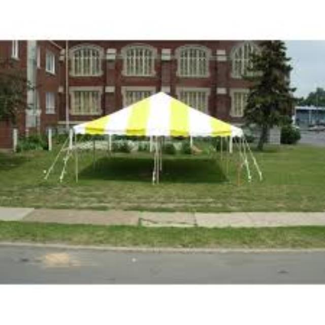 20 Foot X20 Foot Yellow White Diy Tent Rentals New Jersey
